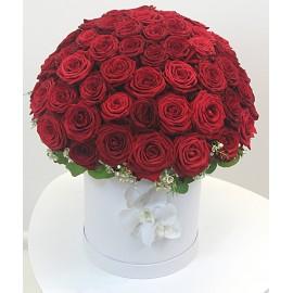 """Puokštė dėžutėje """"Rožių..."""
