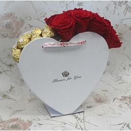 Širdelė su rožėmis ir...