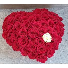 VIP rožių širdis